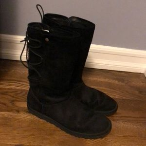 Black UGGs with lace up back
